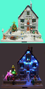 Lego Merry Christmas Happy Holiday Scene Winter Light