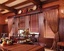 image of elegant wood valance
