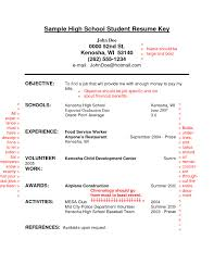 Resume Template High School Senior Unique Resume Objective Examples