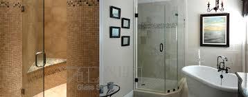 shower a glass door