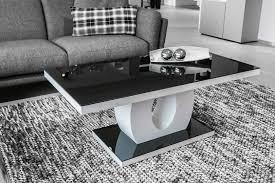 Table Basse Design Verre Et Bois Blanc Laqu Noir Amphore Table Table Basse Table Basse Noir Et Blanc En Verre Trempe Ovale Op