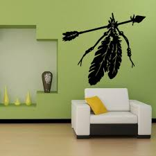 new indian feather arrow wall sticker mural culture wall decorative decals for living room bedroom boy s room bedroom stickers bedroom stickers for walls