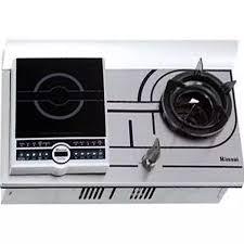 Bếp gas âm bếp điện từ Rinnai RVB-COMBI(R) 2 trong 1