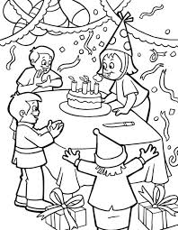 Birthday Party Colouring Birthday Party Coloring Pages And Inside