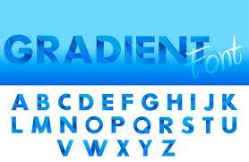 Blue Letters Decorative Gradient Blue Alphabet Font Letters For Logo And