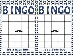 Little Man Baby Shower Game Download For Boy  Baby Bingo Baby Shower Bingo Cards Printable