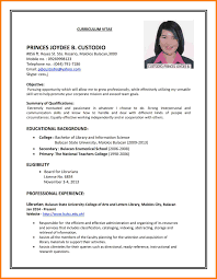 11 Example Of Resume To Apply Job Precis Format