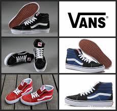 vans shoes red and black. original vans classic old skool high top canvas shoes vans sk8 hi white black red brand women and mens skateboarding casual