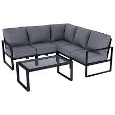 steel outdoor patio sectional sofa set