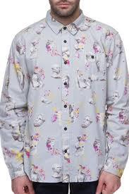 <b>Рубашка MISHKA Ruins</b> Button UP (Light Grey, L) | www.gt-a.ru