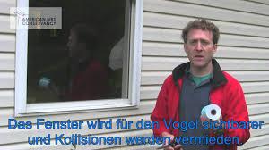 Durchsichtige Vogelschutzfolie Abc Birdtape Youtube