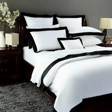 pratesi griffe hotel egyptian cotton full queen duvet cover black white g5073