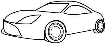 car coloring pages for toddlers