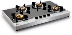GLEN Glass Automatic Gas Stove 4 Burners Best Price in India GLEN