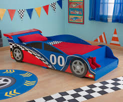 ... Large-size of Decent Toddler Bed Race Car Shape Red Blue Crib Mattress  Fits Boys ...