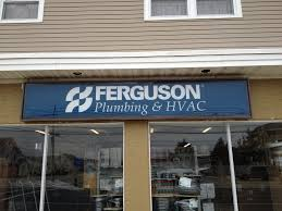 ferguson plumbing hvac sign before and after coastal sign