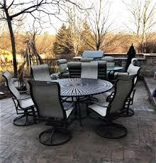 installation of a patio furniture set