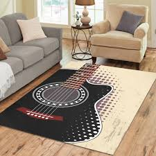 home decoration floor black acoustic guitar area rug floor rug room carpet