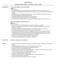 Sample Engineering Technology Resume Civil Engineering Technologist Resume Samples Velvet Jobs 2