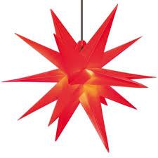 Deco Plant Weihnachtsstern 18 Zacker Aus Kunststoff Für Innen Außen Dekoration ø 50 Cm In Rot 7951