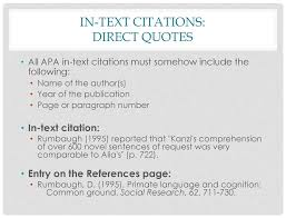 Apa Citations And Integrating Resources Ppt Download