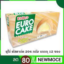ยูโร่ เค้ก คัสตาร์ด 204 กรัม บรรจุ 12 ซอง (EURO)
