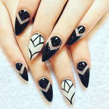 Cool Nail Designs With Black And White Black White Acrylic Nail Art Designs Ideas Decoratorist
