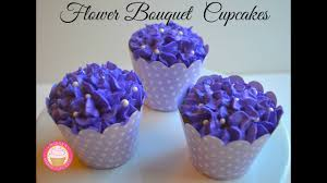 Flower Bouquet Cupcakes For Mothers Day Youtube