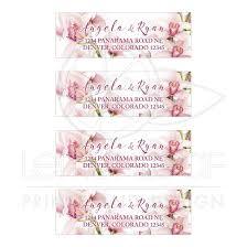 Orchid Wedding Address Labels Elegant Pink Burgundy