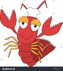Funny Cartoon Lobster Character Cook ...
