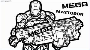 Nerf Coloring Pages Fresh Sniper Nerf Gun Coloring Pages Sketch