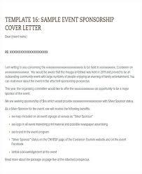 Cover Letter Sponsorship Sponsorship Proposal Cover Letter Sample To Get For Event
