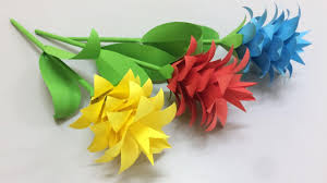 Flower Made In Paper How To Make Beautiful Flower With Paper Making Paper Flowers Step By Step Diy Paper Flowers