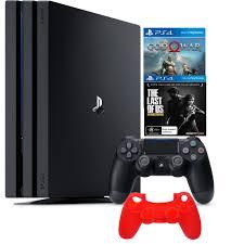 Máy Ps4 Pro Cuh 7218B Model 2019 Kèm 2 Game & -Tặng Bao Silicon Tay Cầm-  Chính Hãng Sony Việt Nam - PlayStation