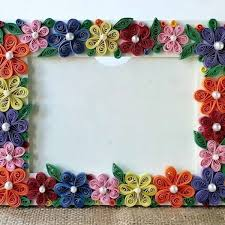 how to create a colorful fl photo frame diy crafts tutorial with how to make