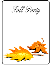 Free Printable Fall Party Invitations