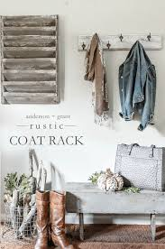 Shabby Chic Coat Rack Rustic Coat Rack Makeover An Afternoon Project Coat racks 58