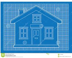 Blueprints Simple House Blue Graph Paper Format Building Structures