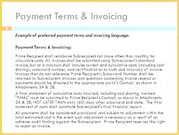 Invoice Payment Terms Free Download And Conditions Template