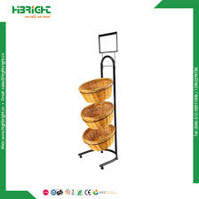 Display Stand Hs Code China Metal Supermarket Display Stand Bread Round Basket Display 51