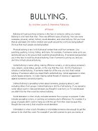 Bullying Essay Example bullying essay thesis wwwvikingsnaorg 1