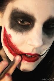 freaky femme joker makeup step 9