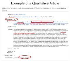 evaluating journal articles mlis research guide libguides  example of a qualitative review abstract descriptors include words like qualitative research semi