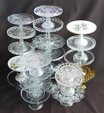 antique glass cake stands