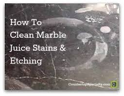 Image Table Tops Countertop Specialty Cleaning Marble Juice Stains
