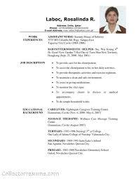 Sample Caregiver Resume Impressive Collection Of Solutions Free Sample Of Caregiver Resume Perfect