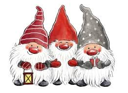 Bildresultat för tecknade jultomtar