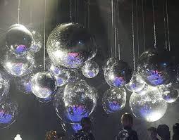 mirror ball chandelier disco ball
