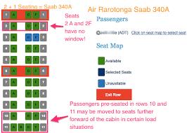 Air Rarotonga Seat Selection