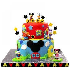 Designer Mickey Mouse 2 Kg Mickey Mouse Designer Cake